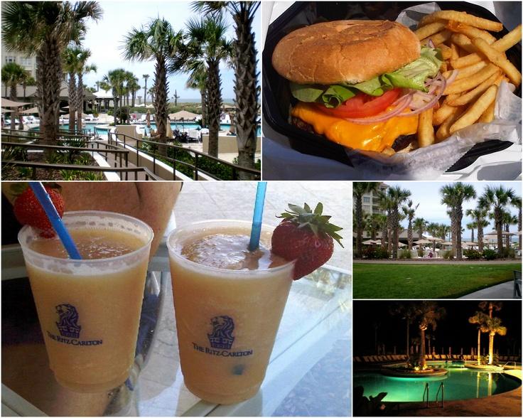 Pool Bar and Beach Dining at the Ritz-Carlton Resort on Amelia Island, FL