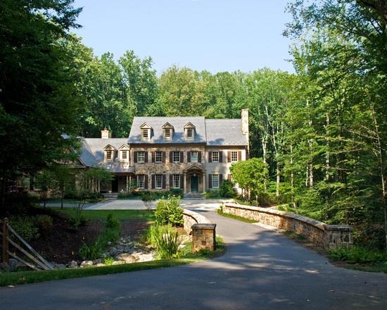 Colonial home landscape design pictures remodel decor for Plusen landscape architects