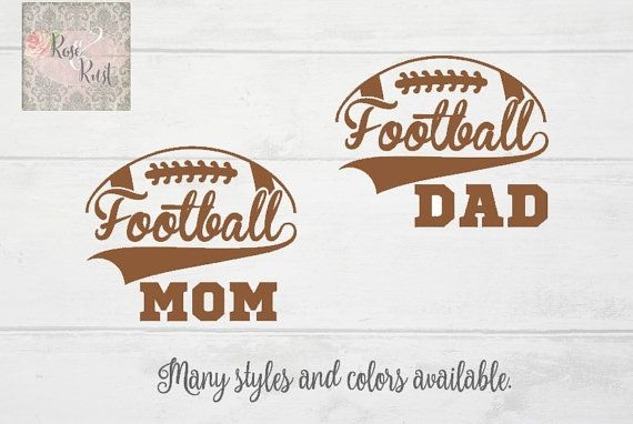 Football Mom Decal Football Dad Decal Sports Decals by RoseandRust