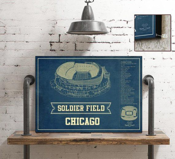Chicago Bears Stadium Seating Chart Soldier Field Vintage Football