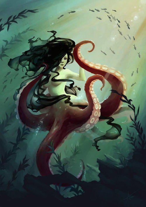 octopus mermaid - Google Search