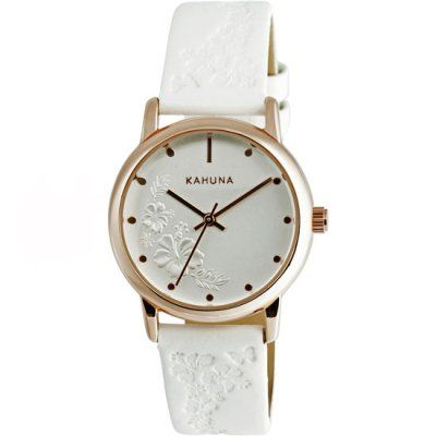 Kahuna - Ladies White Leather Strap White Dial Watch - KLS-0304L - RRP: £34.95 - Online Price: £30.00
