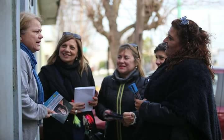 Nora Turconi, Susana Giulietti y Susana González, candidatas de Unidad Cuidadana en Ensenada en campaña para las PASO 2017.