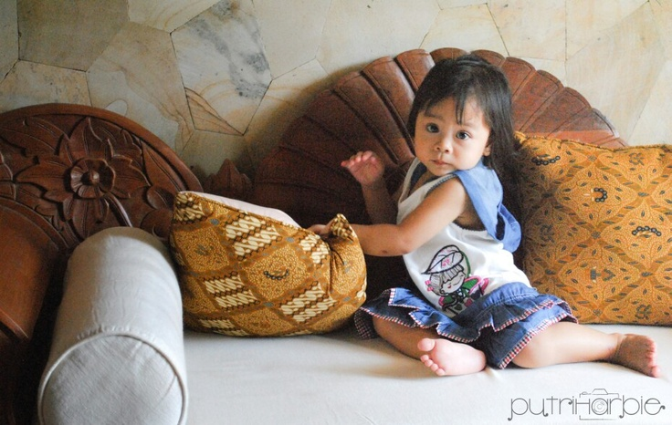 Farah with Batik - Indonesia