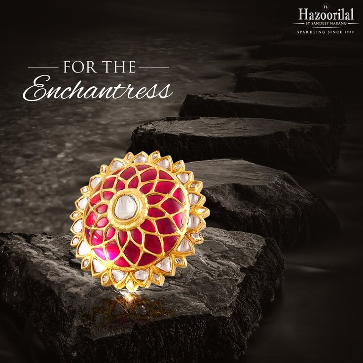 Spellbound the world with your majestic charm as you wear this rubies studded kundan ring that is certain to re-define your royalty. Discover our statement jewellery collection here -