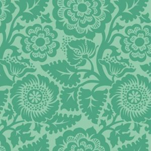 Joel Dewberry - Heirloom Home Dec - Blockprint Blossom in Jade. Oh how i want to make this into curtains