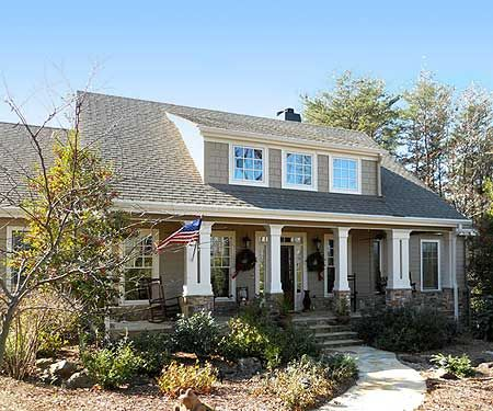 Plan W29838RL: Rustic Appeal with Country Front Porch