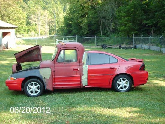 """$3,000 Will Get You This """"Handsome"""" 1962 Truckcar: Pickup Trucks, Cars Fails, Ducks Tape, Friday The 13Th, Funny Commercial, Funny Cars, Rats Rods, Dreams Cars, Rednecks"""