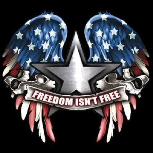 Patriotic T Shirt Freedom Isn T Free Flag Wings T Shirt