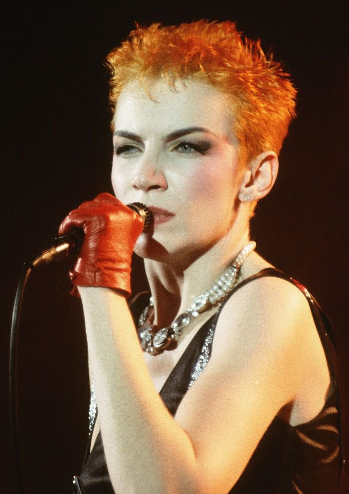 "Annie Lennox's songs include: ""Why"" ""No more I love yous"" ""Sweet Dreams"" ""There must be an angel"" ""Walking on broken glass"" ""A Whiter shade of pale"""