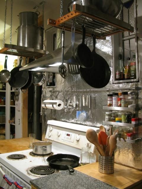 1000 Images About Diy Hanging Pot Rack On Pinterest