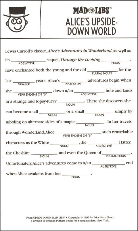Upside-Down Mad Libs   Additional photo (inside page)