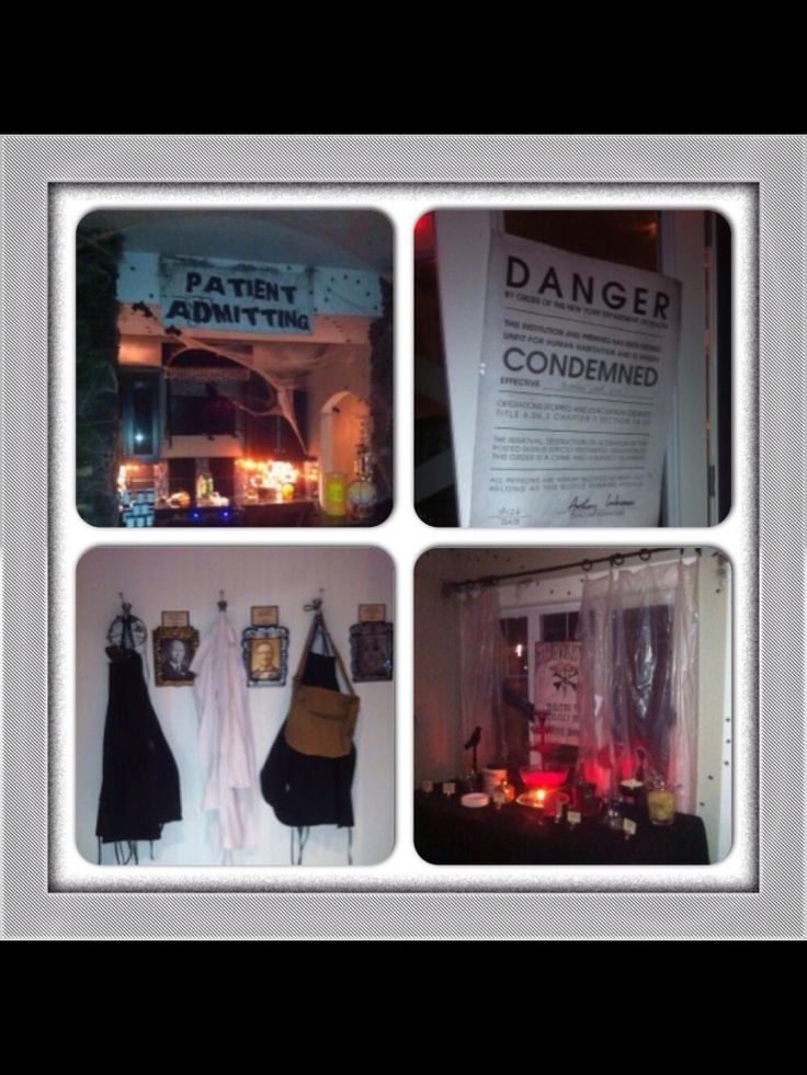 condemned insane asylum halloween party by three talented women