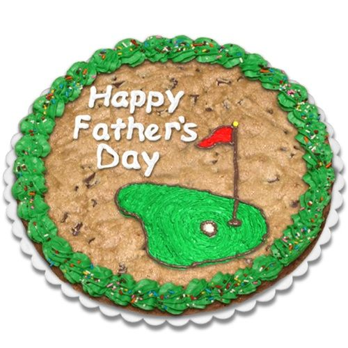 On The Green Fathers Day Giant Cookie Cake
