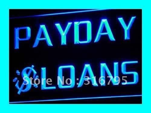 i060 Payday Loans Enseigne Lumineuse LED Neon Light Sign On/Off Swtich 20+ Colors 5 Sizes