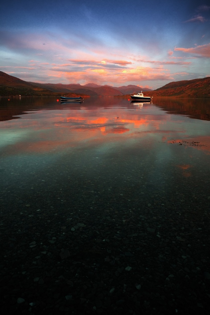 Loch Broom twilight    Richie Bisset  Ullapool.  Stayed here 3 days & nights during the Summer Solstice. It is a glorious place.