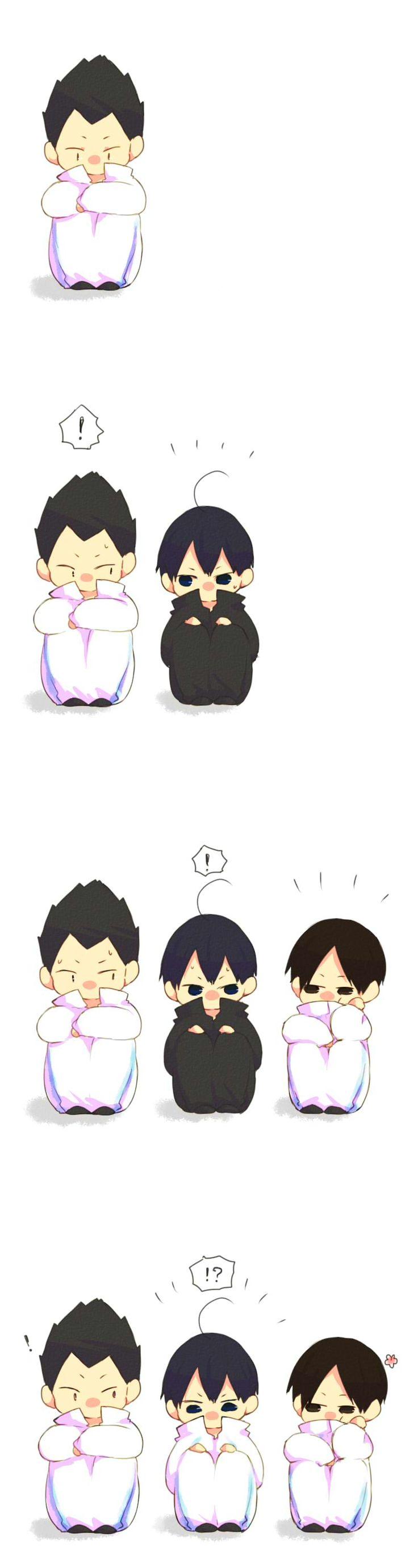 Awwwww!!! Kageyama Kindaichi and Kunimi