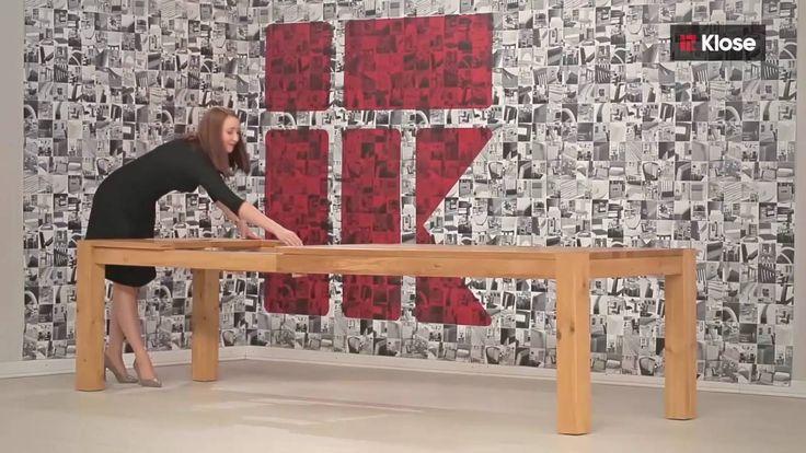 Easy to open - wooden gate-leg table. Sprawdź jak łatwo można rozłożyć stół T-6 z oferty Klose.