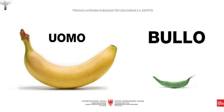 la campagna contro il bullismo firmata da Oliviero Toscani per la Provincia di Bolzano