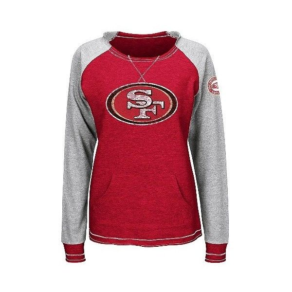 San Francisco 49ers Women's Activewear Sweatshirt ($15) ❤ liked on Polyvore featuring activewear, tc, target shirts, red shirt and target activewear