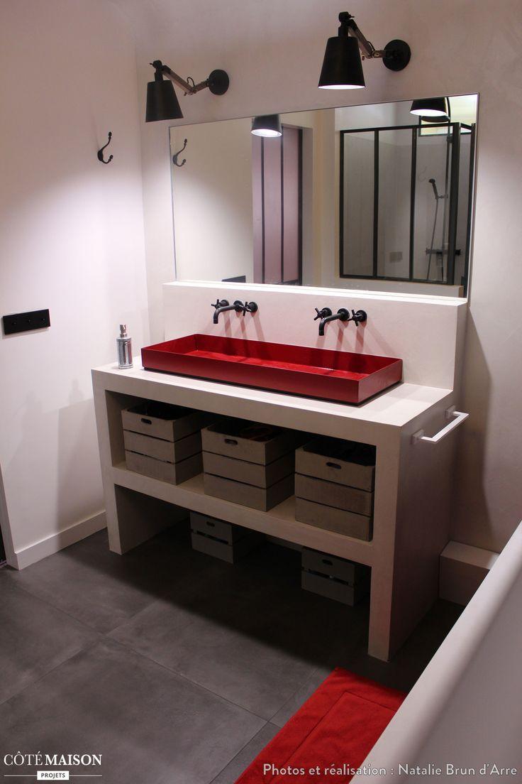 Les 25 meilleures id es de la cat gorie salles de bains - Deco salle de bain rouge ...
