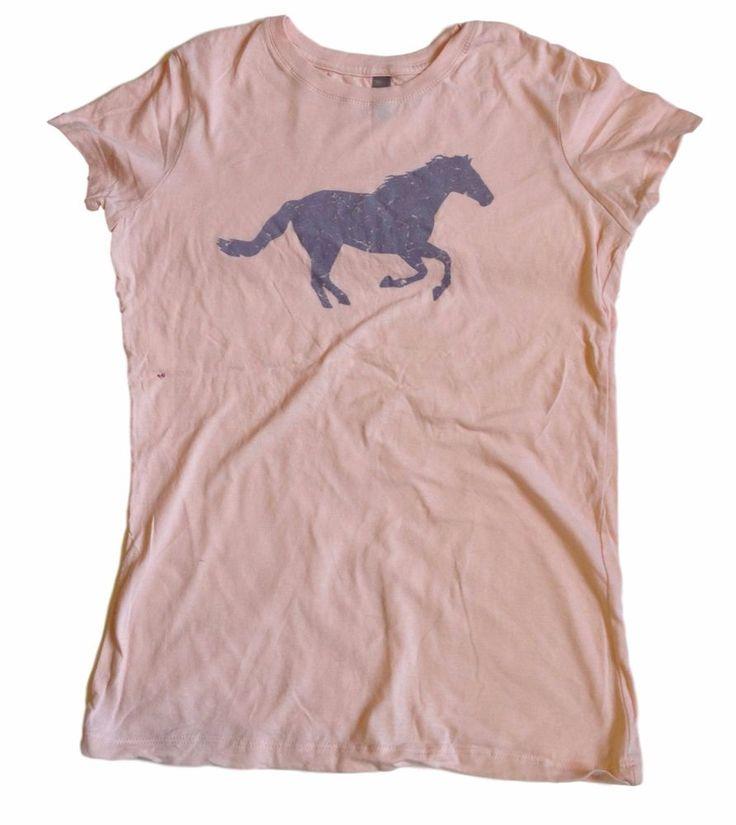 Next Level Apparel Horse Mare Pink Novelty Top Womens Tshirt Shirt - SZ Large #NextLevel #BasicTee