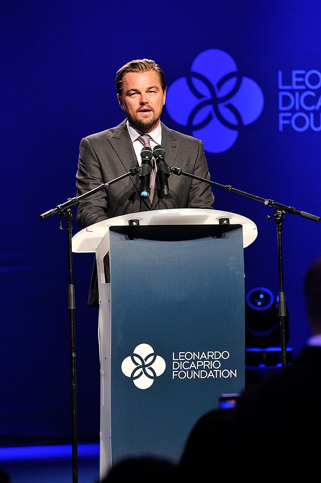 Charity Evening Leonardo DiCaprio Fund  Oscar-winning Leonardo DiCaprio manages not only to act in box office movies, but also engage in charity. Environmental problem is so concerned about the actor, even his speech during the Oscars, he has devoted to the environment. His fund «Leonardo DiCaprio Foundation» is aimed at protecting the environment, in particular the fight against global warming.