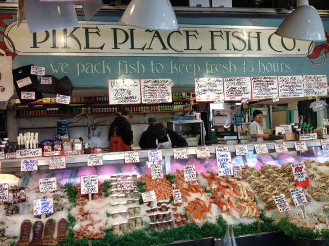Pike Market Place, Seattle The best fish I've ever seen