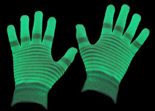 Glow In The Dark Party Rave Night Clubbing Gloves Adult