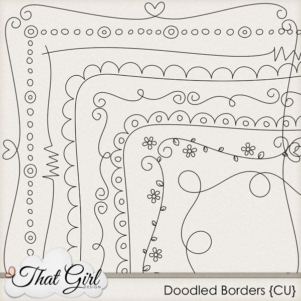 cute doodle borders