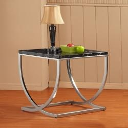 @Overstock - Grandly curved X-base metal legs rise to support faux black marble table tops in the Escaldes occasional collection. This ultra contemporary design allows for placement in the most modern of homes.http://www.overstock.com/Home-Garden/Escaldes-End-Table/6780305/product.html?CID=214117 $188.99