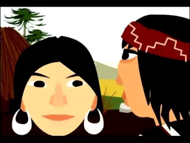 La niña de la calavera (cuento Mapuche) by Editorial Amanuta. Relato sobre los obstáculos que debió sortear una hermosa joven mapuche, quien es transformada en calavera por su perversa madrastra y los hechizos de una machi. Cuento lleno de símbolos y de tradiciones del pueblo indígena chileno.