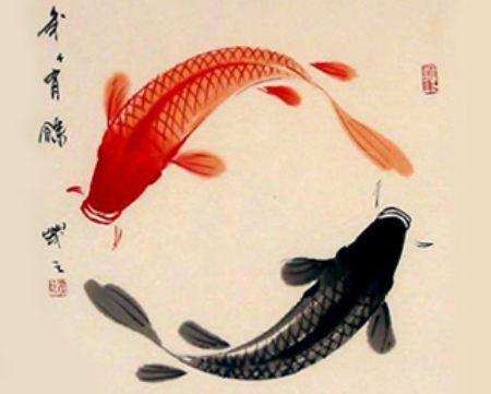 Estampe japonaise le rouge derrière l'oreille en suivant la courbe                                                                                                                                                      Plus