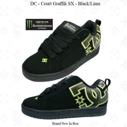 DC-Skate-SHOES-MONSTER-SUPERCROSS-Court-Graffik-SX-Black-Lime
