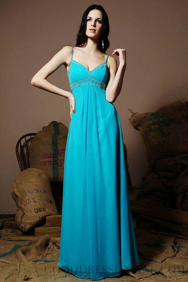 2014 Classy A-line Straps Sleeveless Chiffon Bridesmaid Dresses
