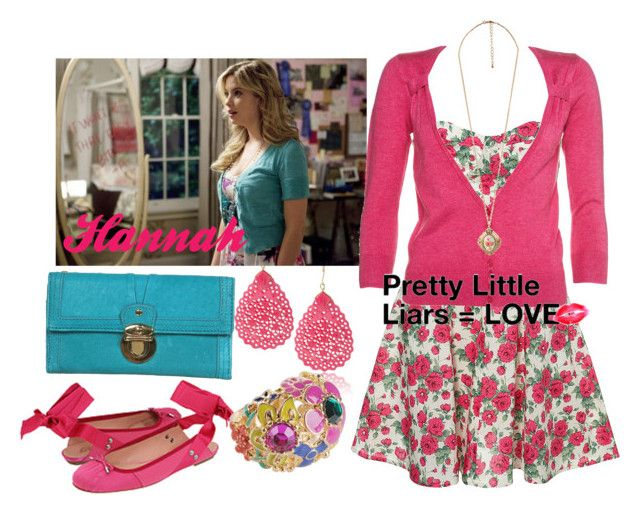 """""""Pretty Little Liars- Hannah"""" by nikita-rae ❤ liked on Polyvore featuring Forever 21, Topshop and Jean-Paul Gaultier"""