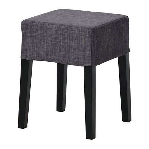IKEA - NILS, Stool, The padded seat means you sit comfortably.</t><t>The cover is removable and can be machine washed.