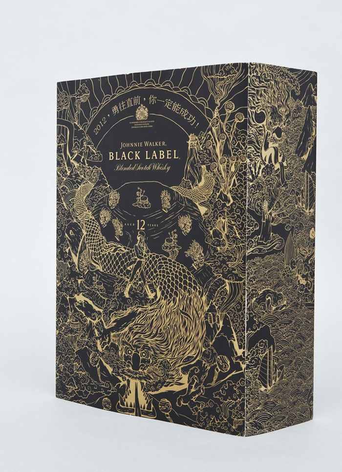 Commissioned by LOVE, Chris Martin created these limited edition Johnnie Walker Chinese Year of the Dragon designs. The packaging appeared on Red, Gold and Black label limited edition boxes.