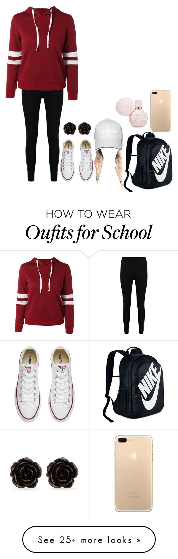 """""""Monday School"""" by bbelk on Polyvore featuring Boohoo, Converse, NIKE and Erica Lyons"""