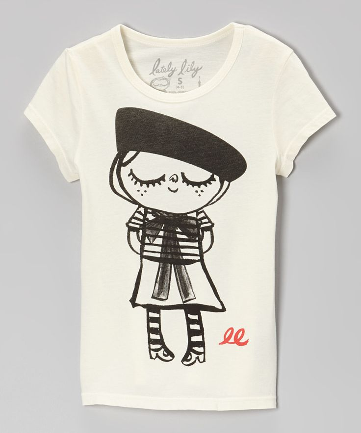 Take a look at this Lately Lily Ivory Bonjour Lily Tee  - Girls on zulily today!
