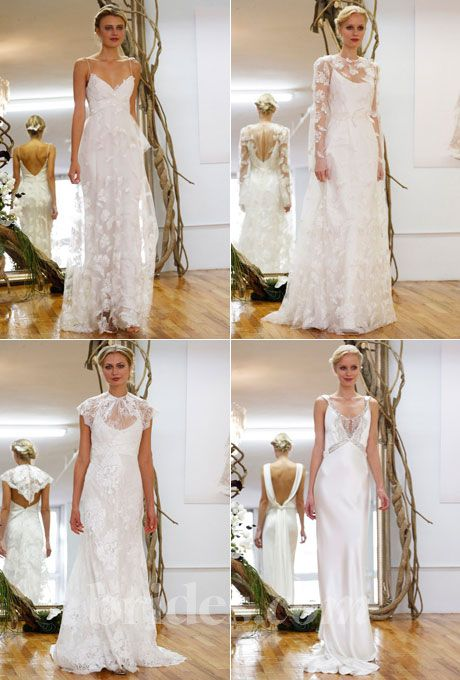 Brides.com: Elizabeth Fillmore - Fall 2013. The Fall 2013 wedding dress collection by Elizabeth Fillmore