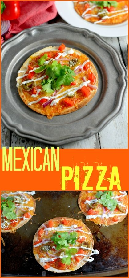 Homemade Mexican Pizza is one of our favorite game day recipes! Set up a pizza bar and allow guests to create their own! Cheese, bright veggies and zesty flavors, you can't go wrong!