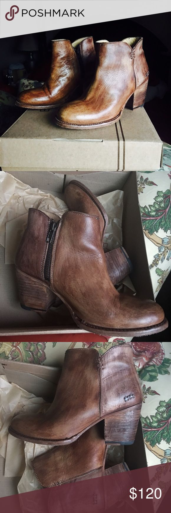 Bed Stu Yell driftwood ankle boots size 7.5 Tan leather, Bed Stu has amazing boots! Great quality Bed Stu Shoes Ankle Boots & Booties