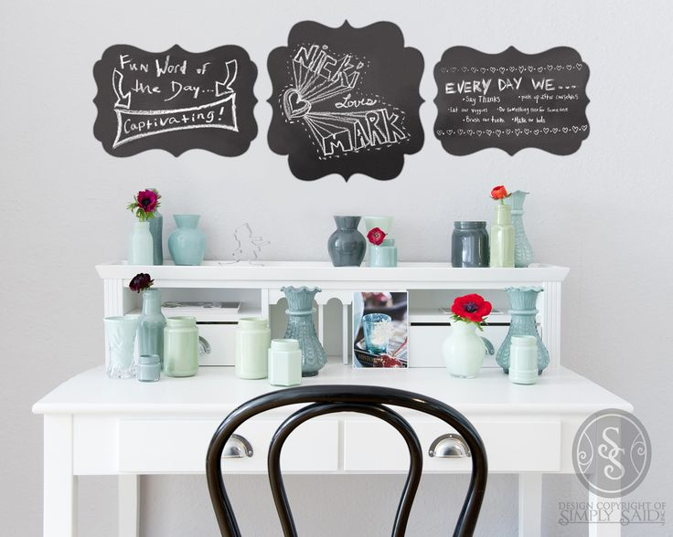 Simply Said Chalk Talk Vinyl Design www.ilovedecoratingwithwords.com
