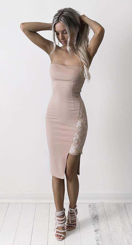 nude bodycon dress