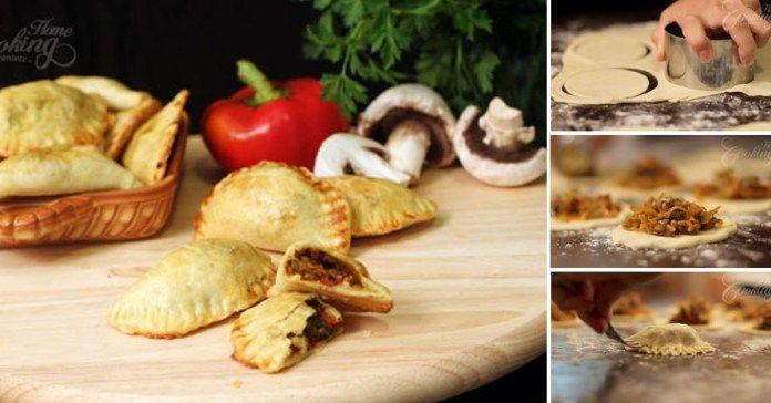 recept na empanadas s houbovou náplní a čerstvými bylinkami