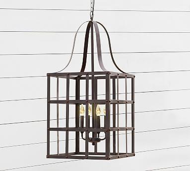Rustic Grid Indoor/Outdoor Lantern