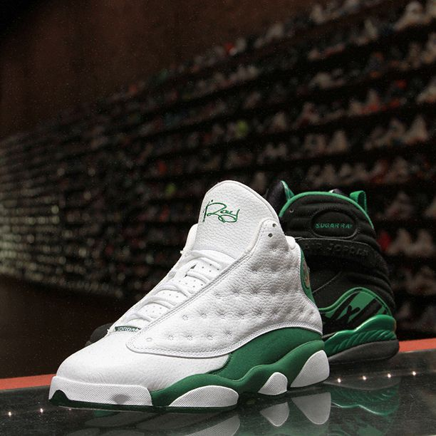 Air Jordan 13 Retro Ray Allen PE White Clover shoes