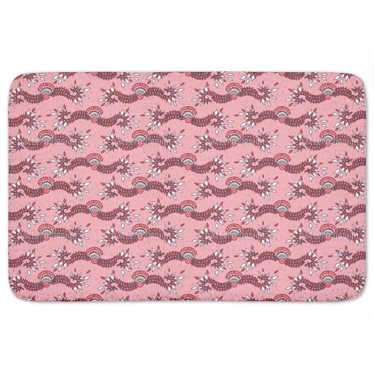 Uneekee Cavallo Pink Bath Mat