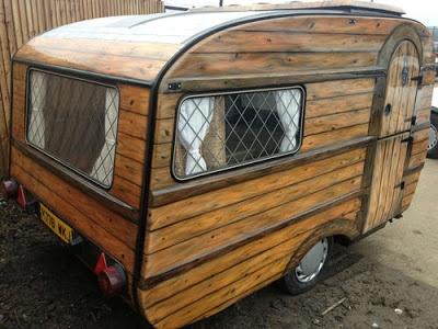 Gypsy Caravan Shedworking Airbrushed Micro Caravan